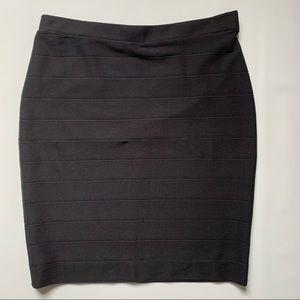 Trisisto form fitting stretch black skirt